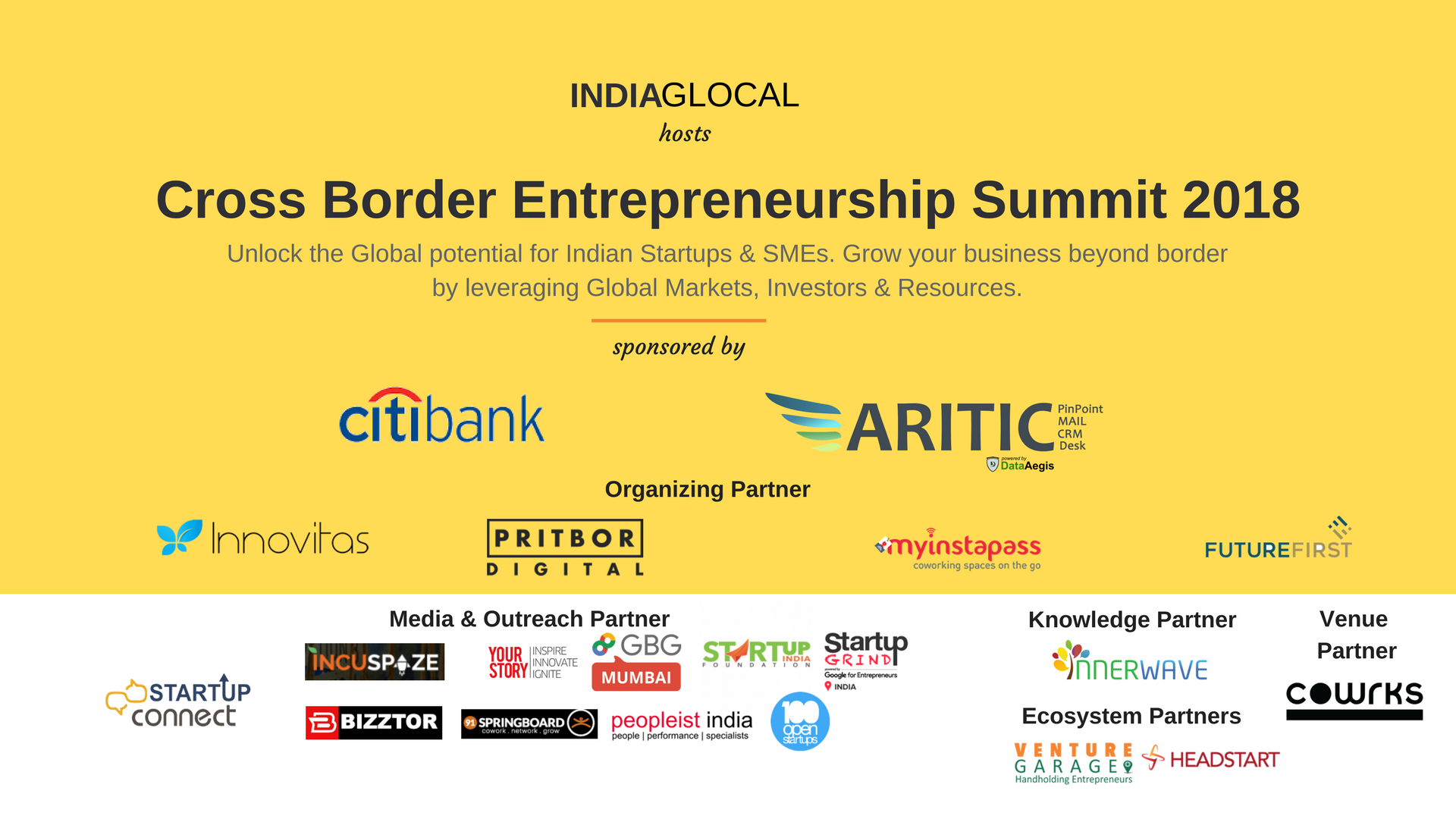 Cross Border Entrepreneurship Summit – 2019